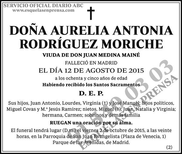 Aurelia Antonia Rodríguez Moriche